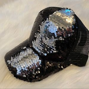 C.C Brand Reversible Sequin Hat